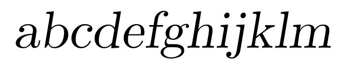 CMU Serif Extra RomanSlanted Font LOWERCASE