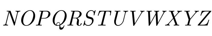 CMU Serif Italic Font UPPERCASE