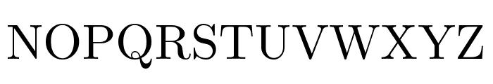 CMU Serif Roman Font UPPERCASE