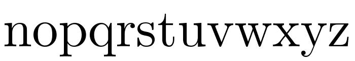 CMU Serif Roman Font LOWERCASE