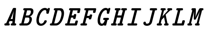 CMU Typewriter Text BoldItalic Font UPPERCASE