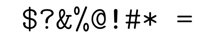CMU Typewriter Text Light Font OTHER CHARS