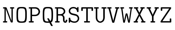 CMU Typewriter Text Light Font UPPERCASE