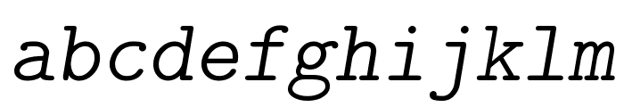 CMU Typewriter Text LightOblique Font LOWERCASE
