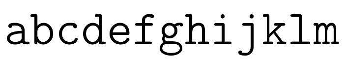 CMU Typewriter Text Light Font LOWERCASE