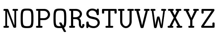 CMU Typewriter Text Regular Font UPPERCASE