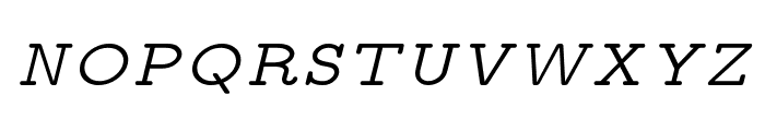 CMU Typewriter Text Variable Width Italic Font UPPERCASE