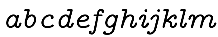 CMU Typewriter Text Variable Width Italic Font LOWERCASE