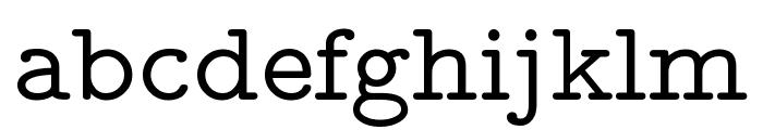 CMU Typewriter Text Variable Width Medium Font LOWERCASE