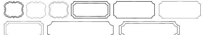 CM Luella Frames A Font UPPERCASE