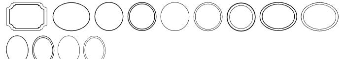 CM Luella Frames A Font LOWERCASE