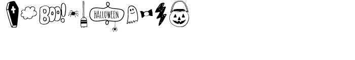 CM Mimbie SPOOKY ORNAMENTS Font OTHER CHARS