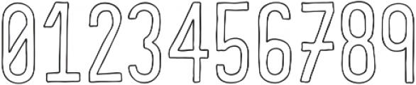 COMIDA Outline ttf (400) Font OTHER CHARS