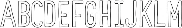 COMIDA Outline ttf (400) Font LOWERCASE