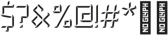 CONSTRUCT Shadow otf (400) Font OTHER CHARS