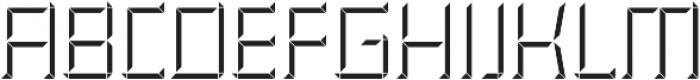 CONSTRUCT Shadow otf (400) Font LOWERCASE