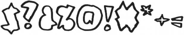 Coal Soul Outlined otf (400) Font OTHER CHARS