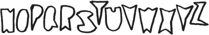 Coal Soul Outlined otf (400) Font LOWERCASE