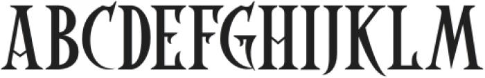 Coaster Ghost Regular otf (400) Font UPPERCASE