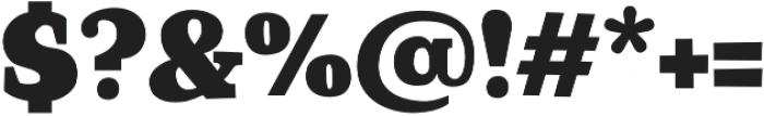 Coats Black otf (900) Font OTHER CHARS