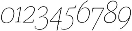 Coats Light Italic otf (300) Font OTHER CHARS