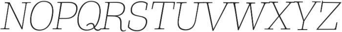 Coats Light Italic otf (300) Font UPPERCASE
