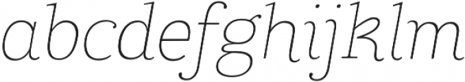 Coats Light Italic otf (300) Font LOWERCASE
