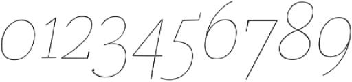 Coats Thin Italic ttf (100) Font OTHER CHARS