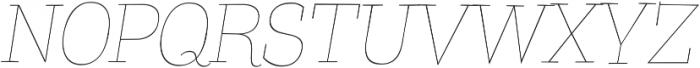 Coats Thin Italic ttf (100) Font UPPERCASE