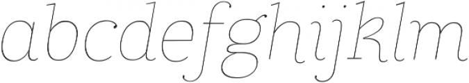 Coats Thin Italic ttf (100) Font LOWERCASE