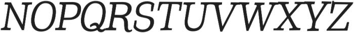 Coats otf (400) Font UPPERCASE