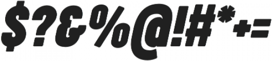 Cocogoose Compressed Bold Italic otf (700) Font OTHER CHARS