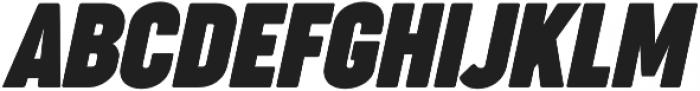 Cocogoose Compressed Bold Italic otf (700) Font UPPERCASE