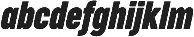 Cocogoose Compressed Bold Italic otf (700) Font LOWERCASE