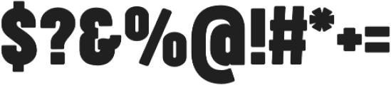 Cocogoose Compressed Bold otf (700) Font OTHER CHARS