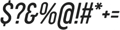 Cocogoose Compressed Light Italic otf (300) Font OTHER CHARS