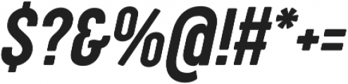 Cocogoose Compressed Semilight Italic otf (300) Font OTHER CHARS
