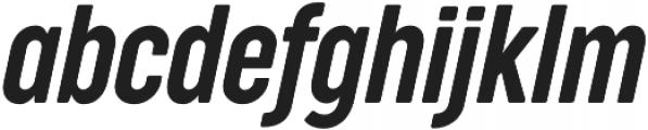 Cocogoose Compressed Semilight Italic otf (300) Font LOWERCASE