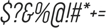 Cocogoose Compressed UltraLight Italic otf (300) Font OTHER CHARS