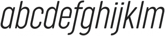 Cocogoose Compressed UltraLight Italic otf (300) Font LOWERCASE