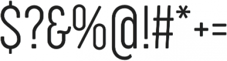 Cocogoose Compressed UltraLight otf (300) Font OTHER CHARS