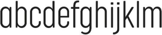 Cocogoose Compressed UltraLight otf (300) Font LOWERCASE