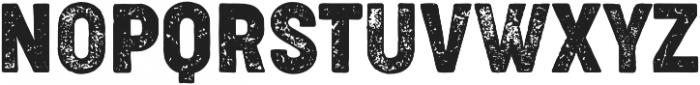 Cocogoose Condensed Letterpress otf (400) Font UPPERCASE