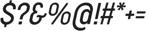 Cocogoose Condensed Light Italic otf (300) Font OTHER CHARS