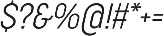 Cocogoose Condensed UltraLight Italic otf (300) Font OTHER CHARS