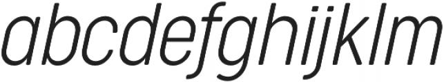 Cocogoose Condensed UltraLight Italic otf (300) Font LOWERCASE