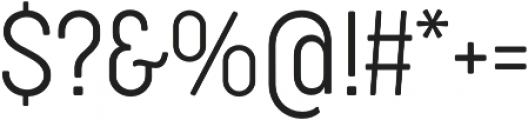 Cocogoose Condensed UltraLight otf (300) Font OTHER CHARS