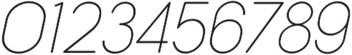 Cocogoose Narrow Thin Italic otf (100) Font OTHER CHARS