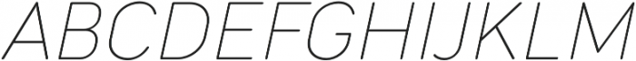 Cocogoose Narrow Thin Italic otf (100) Font UPPERCASE