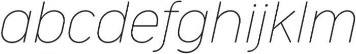 Cocogoose Narrow Thin Italic otf (100) Font LOWERCASE